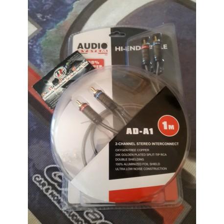 AUDIO SYSTEM AD-A1 Cavo RCA da 1 metro, in OFC, Rame 100%
