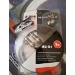AUDIO SYSTEM AD-D1 Cavo RCA da 1 metro, in OFC, Rame 100% con QUADRUPLA schermatura